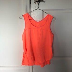 women's lululemon neon orange tank top